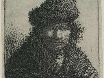 Self Portrait in Fur Cap and Robe