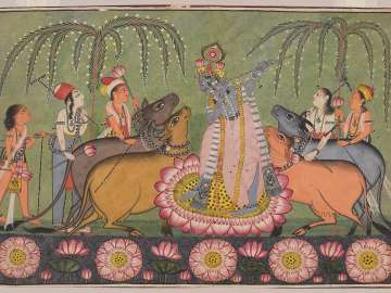 Krishna Fluting for Gopas and Cows