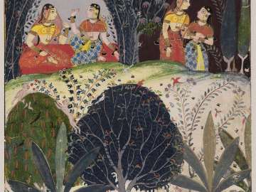 Gita Govinda: Krishna awaiting Radha