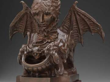 Fantastic Inkwell (Self-Portrait as a Sphinx)