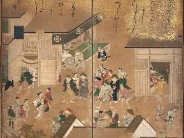 Scenes in the Yoshiwara Pleasure District
