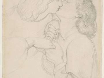 Dante and Beatrice, study for The Rose Garden