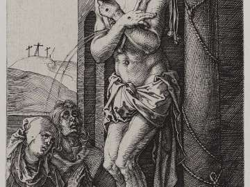 Man of Sorrows by the Column (Engraved Passion)