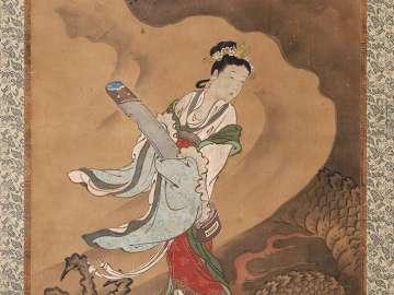 Yu Zhi Playing her Qin