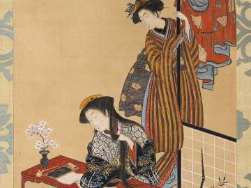 Courtesan at a Writing Desk (Parody of Guan Yu)
