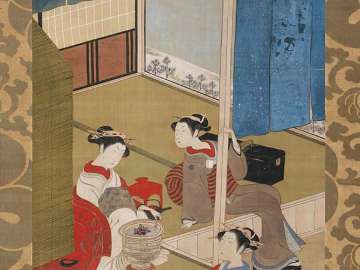 Courtesans at the Front of an Assignation Teahouse