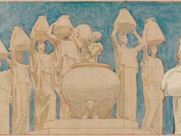 Museum of Fine Arts Mural Study: The Danaïdes