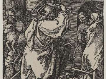 Christ Driving the Money Lenders from the Temple (Small Passion)