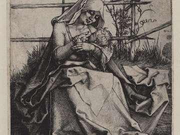 Madonna on a Grassy Bench