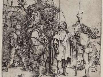 Five Lansquenets and an Oriental on Horseback