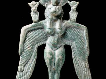 Winged goddess pectoral