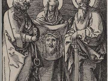 Saint Veronica between Saints Peter and Paul (Small Passion)