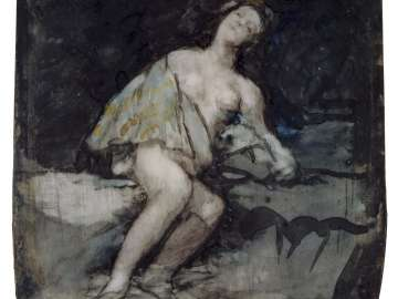 Nude Woman Reclining Against a Rock