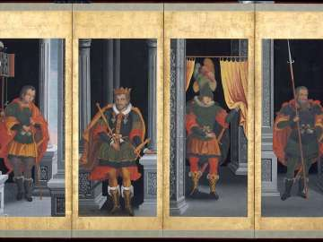 European King and Members of His Court