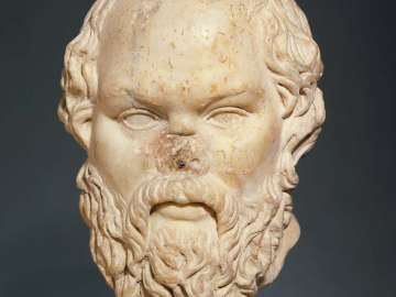 Portrait head of Socrates