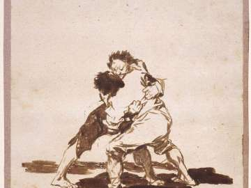 Two Men Fighting (Sheet 73 from Album F (Images of Spain Album)