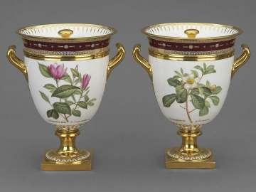 Pair of Ice-Cream Coolers from Service des plantes de la Malmaison