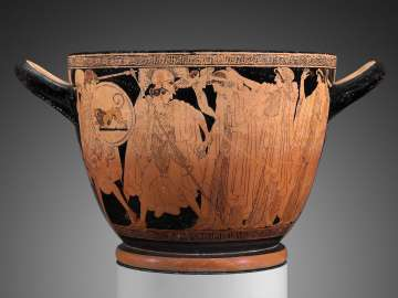 Drinking cup (skyphos) with the departure and recovery of Helen