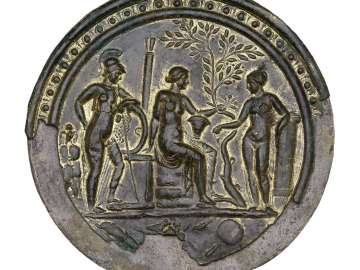 Mirror with Minerva, Venus, and Juno