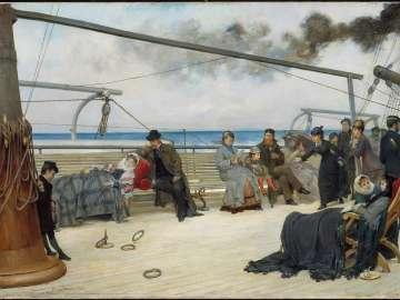 On the Open Sea-- The Transatlantic Steamship