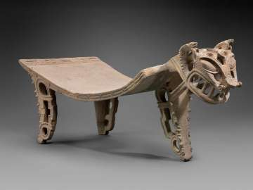 Jaguar effigy metate