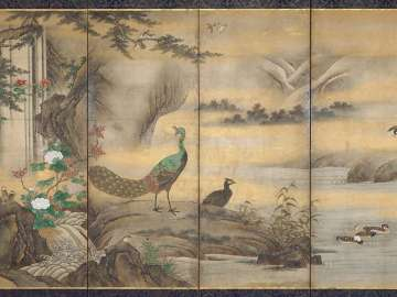 Birds and Flowers in a Landscape