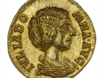 Aureus with bust of Julia Domna, struck under Septimius Severus