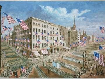 Departure of the 7th Regiment, N.Y.S.M., April 19, 1861