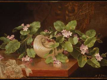 Arbutus in a Shell Vase (Flowers of Hope)
