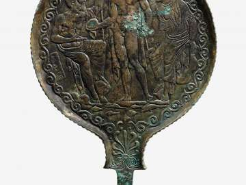 Mirror and Handle with the Birth of Helen