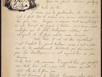Letter to Charles Morice, July 1901