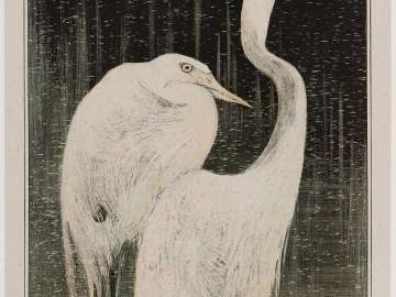 Silver Herons (1905 Calendar: April)