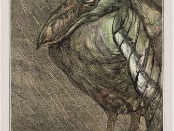 Ship Bill Heron in the Rain (1908 Calendar: November)