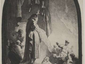 The Raising of Lazarus (the larger plate)