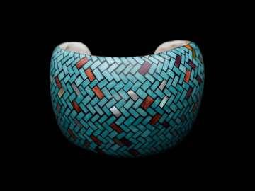 Mosaic cuff bracelet