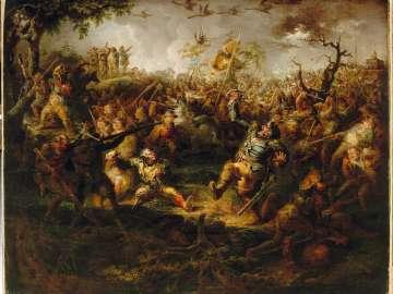 A Battle Scene from Knickerbocker's History of New York