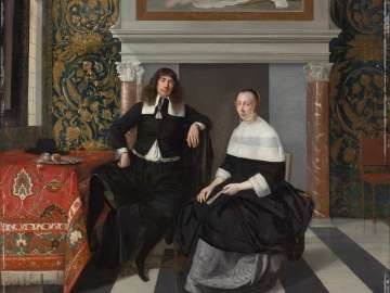 Portrait of a Man and Woman in an Interior