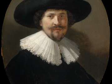 Portrait of a Man Wearing a Black Hat
