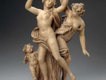 Two Dancing Bacchantes and a Putto