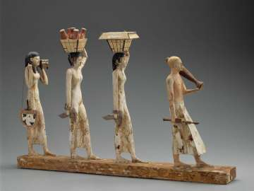 Model of a procession of offering bearers (