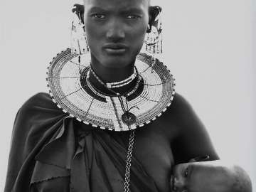 Maasai Woman and Child, Africa