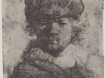 Self Portrait in a Heavy Fur Cap: Bust