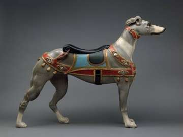 Carousel figure of a greyhound