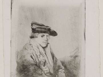 Young Man, Seated, in a Velvet Beret