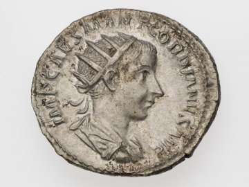 Antoninianus with bust of Gordian III