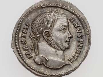 Argenteus with head of Maximian I Herculius
