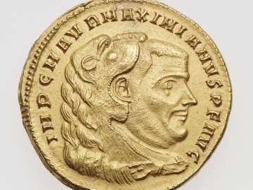 Medallion (four aurei) with bust of Maximian I Herculius