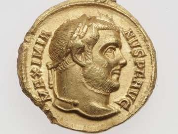 Aureus with head of Maximian I Herculius