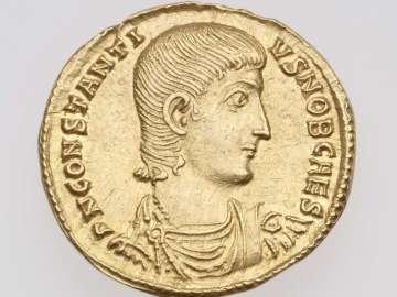 Solidus with bust of Constantius Gallus, struck under Constantius II