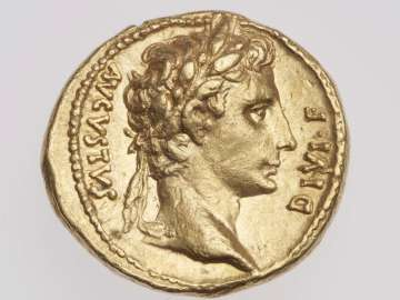 Aureus with head of Augustus